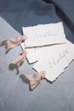 Håndlaget papir bordkort