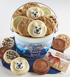 Thank You Beary Much Cookie Pail   Giving Back   Cheryls.com   Send sweet thanks with a tasty assortment of Cheryl's cookies delivered in a shiny silver pail. 15% of the Net Proceeds from the sale of this product will benefit The Columbus Zoo.