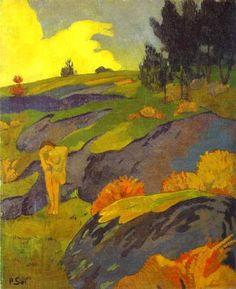 Breton Eve (Melancholy) is one of artworks by Paul Sérusier. Paul Gauguin, Frida Paintings, Pop Art, Art Français, Georges Seurat, Impressionist Art, Post Impressionism Art, Oil Painting Abstract, French Art