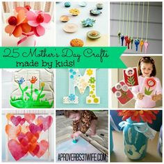 25 Mothers Day crafts that kids can make!  #mothersday #kids #crafts