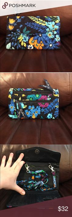 NWT Vera Bradley strap wallet midnight blues NWT Vera Bradley strap wallet midnight blues Vera Bradley Bags Wallets