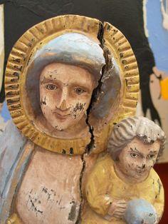 beautiful patina ~ Madonna and Child