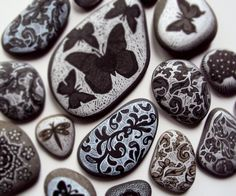 . . . stones collected from shore of Lake Superior  #pebbles, #rocks, #stones