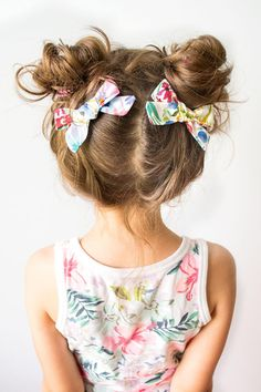 Pigtail Bows Girl Hair Clips Floral Baby Bows Girl Hair