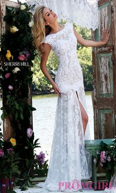 Prom Dresses, Celebrity Dresses, Sexy Evening Gowns: Floor Length Lace Prom Dress by Sherri Hill