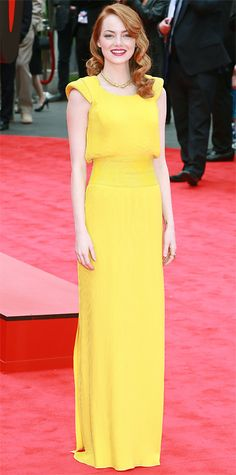 Look of the Day - April 11, 2014 - Emma Stone in Atelier Versace from #InStyle