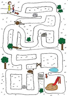 Free Simple Maze Printables For Preschoolers And Kindergartners - Tulamama Kindergarten Math Worksheets, Preschool Learning Activities, Kids Learning, Map Activities, Mazes For Kids Printable, Worksheets For Kids, Free Printable, Maze Worksheet, Kids Education
