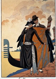 Her And Him Greeting Card for Sale by Georges Barbier
