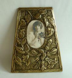 Art nouveau Photo frame brass http://www.benl.ebay.be/itm/191340107228?ssPageName=STRK:MESELX:IT&_trksid=p3984.m1555.l2649