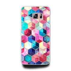 Samsung Galaxy A 3 5 7 Note 3 4 5 S3 S4 S5 S6  Phone Hard Case (Pink & Blue…