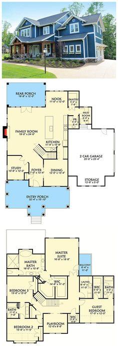 e_135_rendu005 Maison Pinterest House - plan maison etage m