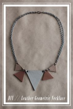 Leather Geometric Necklace // Kollabora Alt Summit Challenge