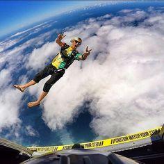 "WARNING: ""Enjoy this step!""  well said @kristianceolin - #turbolenza #skydiving #gopro #adrenaline #adventure #bluesky #exit #hawaii #fun #lifestyle #happy #sport #flipflops #summer #freedom #freedomthinkers"