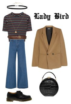 """""""Lady Bird. Christine - inspired."""" by monsteryay ❤ liked on Polyvore featuring Solace, DKNY, Dr. Martens, BillyTheTree, STELLA McCARTNEY and Aspinal of London"""