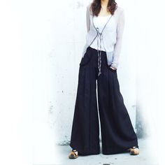 Moon Water  skirt pants K1101 by idea2lifestyle on Etsy, $58.00
