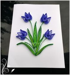 Trupti's Craft: Day 2 of 100 Days of Paper Quilling Challenge Topi… Trupti Crafts: Day 2 of 100 Days Paper … Diy Quilling, Quilling Flowers Tutorial, Paper Quilling Cards, Paper Quilling Flowers, Paper Quilling Patterns, Origami And Quilling, Quilled Paper Art, Quilled Roses, Quilling Comb