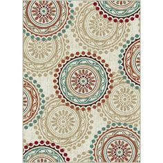 Tayse Rugs Deco Ivory 7 ft. 10 in. x 10 ft. 3 in. Transitional Area Rug-DCO1011 8x10 - The Home Depot