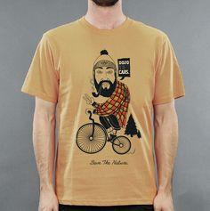 Bike - Dojo Clothing / #bike #save #the #nature #teesh #yellow #orange #beard