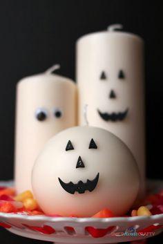 5 Minute DIY Happy Halloween Candles #halloween