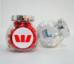 Branded IKEA jars filled with jaffas and mini mints Ikea Jars, Mint, Sweet, Peppermint
