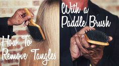 How to Detangle Hair Using a Paddle Brush