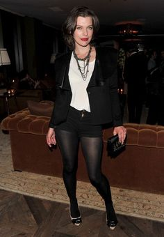 Actress Milla Jovovich attends a cocktail party hosted by Valentino on April 29, 2010 in West Hollywood, California. Description from stylebistro.com. I searched for this on bing.com/images
