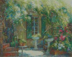 Professione Donna: Schema a punto croce: Johan Messely il giardino se...