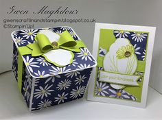 Gwen's Craftin and Stampin: Delightful Lemon Lime Twist gift box and card