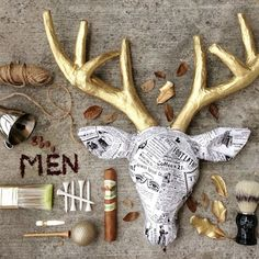 13 Unique Deer Crafts for Fall | diycandy.com.  You could do something similar with moose if you wanted.