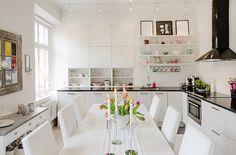 Amenajări interioare, decorațiuni și inspirație pentru casa ta: Apartament de 58 m² în plan deschis
