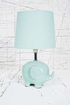 Elephant Lamp in a mint green
