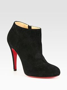 Christian Louboutin - Suede Ankle Boots - Saks.com....Birthday present?? Pretty please :o)