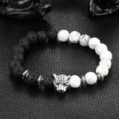 Buy it Now! Lion Lava Bracelets Leopard Lava Stone