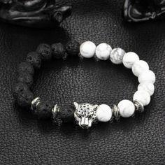 Buy it Now! Lion Lava Bracelets Leopard Lava Stone