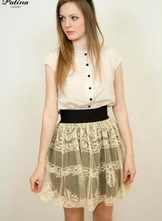 Handmade Limited Edition Rococo Lace Pattern Skirt,  Skirt, Handmade Limited Edition Rococo Lace Pattern, Chic  #UsTrendy, #Spring #Style