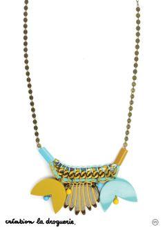 Le collier Arty #bijoux #collier #ladroguerie
