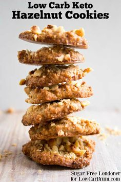 Hazelnut keto cookies stack