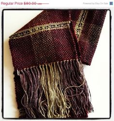 ON SALE Handwoven scarf/ vibrant and soft selection of by Jackpie