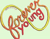 Forever Young Lyric Drawing