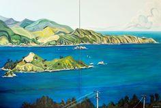 Pencarrow Head  180cm x 90cm  Acrylic on canvas