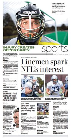 Sports, Nov. 15, 2013.  #Newspaper #GraphicDesign #Layout