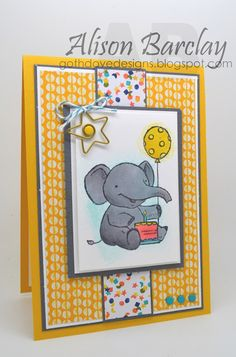 Gothdove Designs - Alison Barclay Stampin' Up! ® Australia : Stampin' Up! Australia - CTC 30 - Birthday Bash DSP with Elebration
