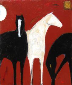 """Circus 60"""" x 48""""  by Karen Bezuidenhout"""