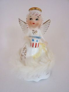 July Angel of the Month Figurine Napco by BonniesVintageAttic,