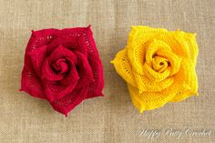5 Crochet Rose Pattern Bundle All Sizes Mini by HappyPattyCrochet
