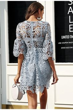 Simply Elegant Lace Short Summer Dress – Picaka