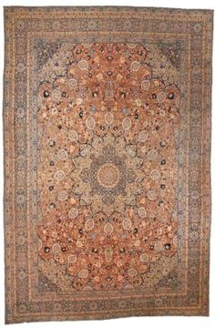 TABRIZ CARPET  NORTH WEST PERSIA, CIRCA 1880  Of 'Ardebil' design,  28ft.10in. x 19ft.1in. (864cm. x 580cm) I Christie's Sale 7219