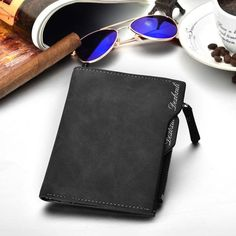b7cd3bfa8d9a 2018 Hot Fashion men wallets Bifold Wallet ID Card holder Coin Purse Pockets  Clutch with zipper Men Wallet With Coin Bag Gift