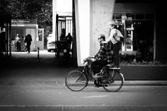 Biking with dad | Daily Observations by Guillaume Groen | Regular street photography and social documentary updates from everyday life.