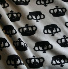 Kruunu cotton velour with crowns